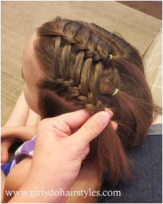 Girly Do Hairstyles By Jenn Ladder Waterfall Style For Short or Long Hair hairstyles for the gym top knot
