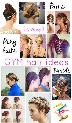 Easy Workout Gym Hair Styles Rachel Glitter & Bow