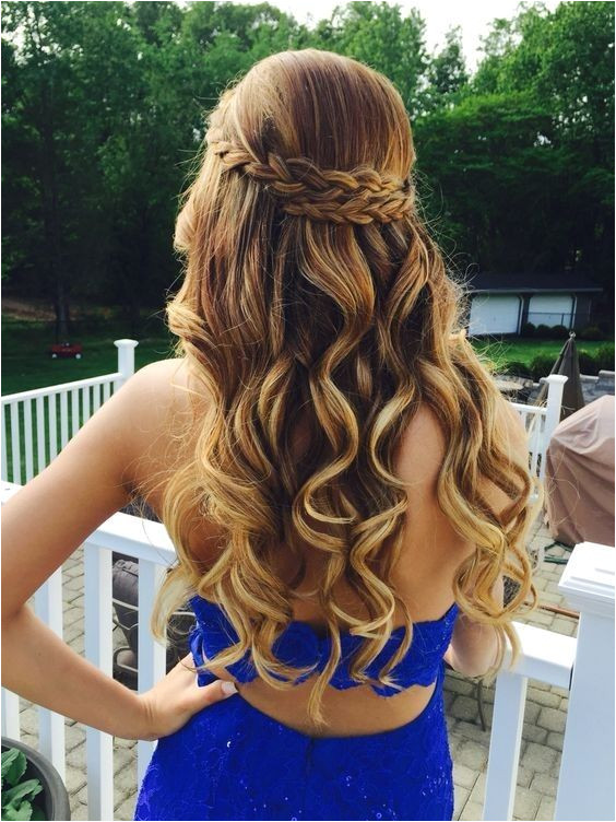 Curly Long Hair Styles with Braids Beautiful Prom Home ing Hairstyles