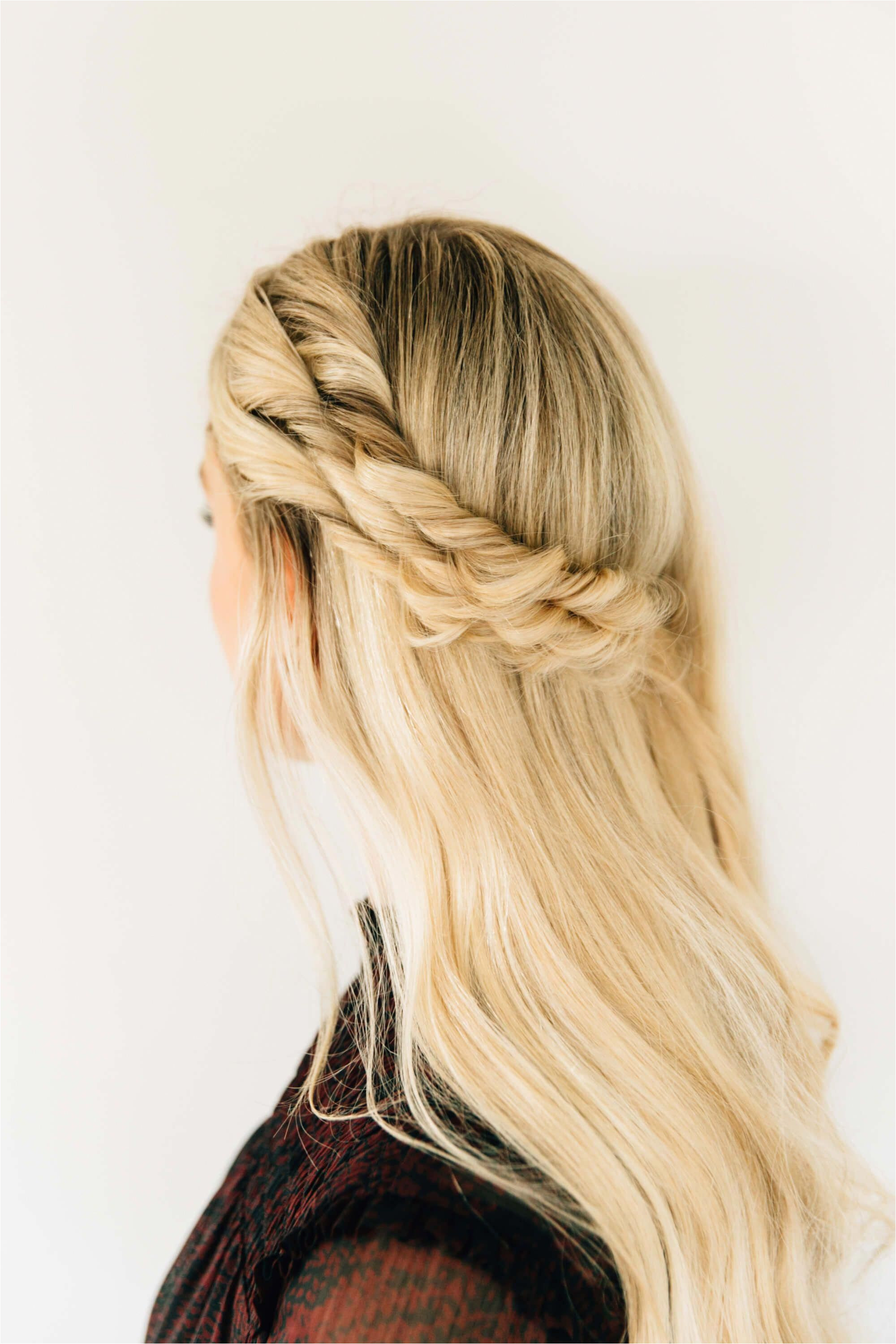 half up half down hairstyle with a double twist 15 easy incredibly stylish hairstyles