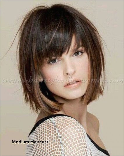 Medium Haircuts Shoulder Length Hairstyles With Bangs 0d Ideas As For Twisted Hair Spray