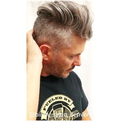 mens undercut haircut on thick mens gray hair modern mens cut from Denver Stylist book at