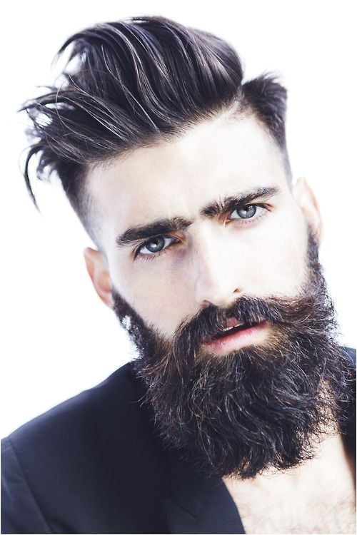 funky hairstyle with beard