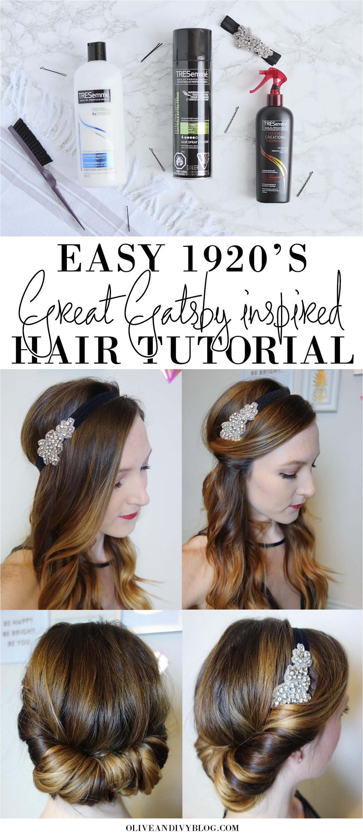 Easy 1920 s Great Gatsby hair tutorial AD