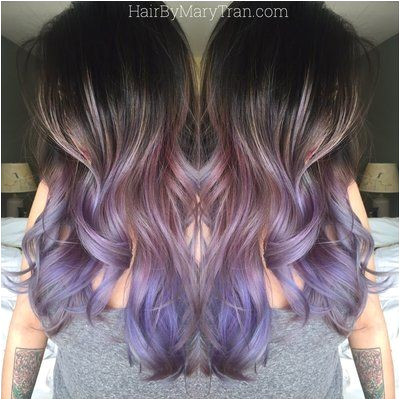 Blonde Hair for asians Luxury Purple Ombre and Long Layered Blended Haircut asian Hair