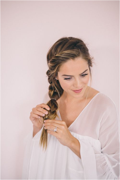 Twisted Side Braid Tutorial adding multiple rubber bands to braid