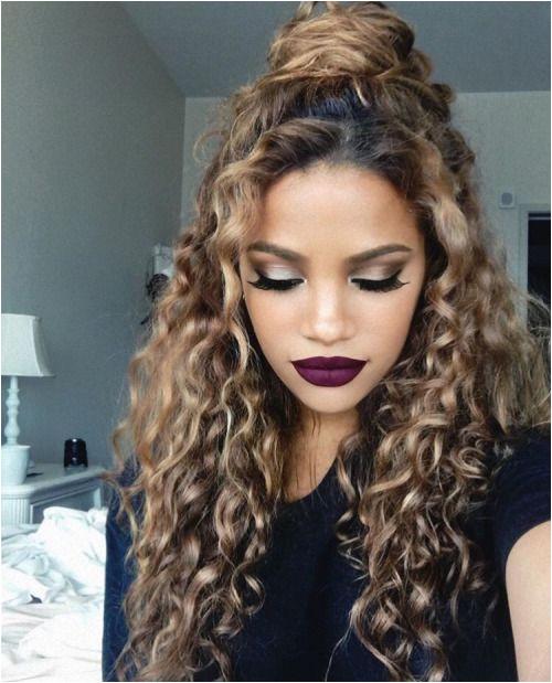 KortenStEiN Curly Hair Bun Styles Hairstyles Curly Hair Curly Hair Dye Naturally