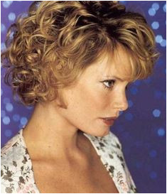 Curly Short Hair Cuts for Women Over 40