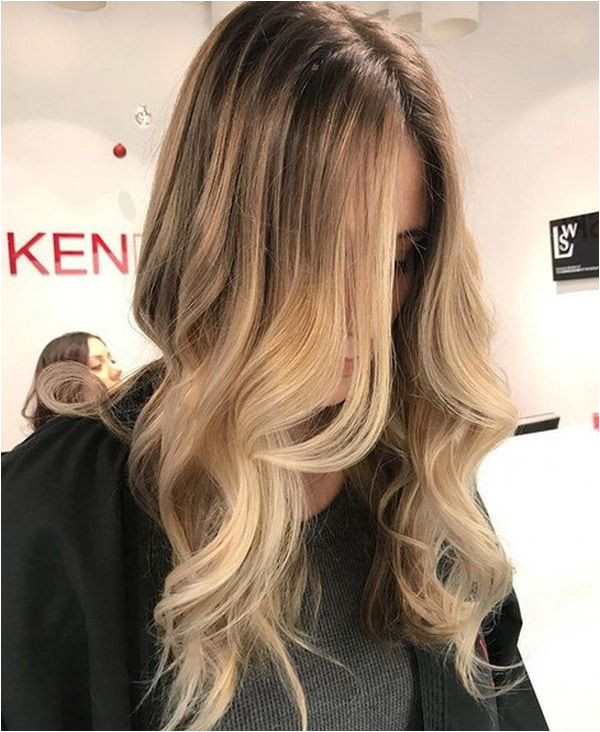 Warm Honey Blonde Hair Color 2018 2019 with Lighter Front Streaks