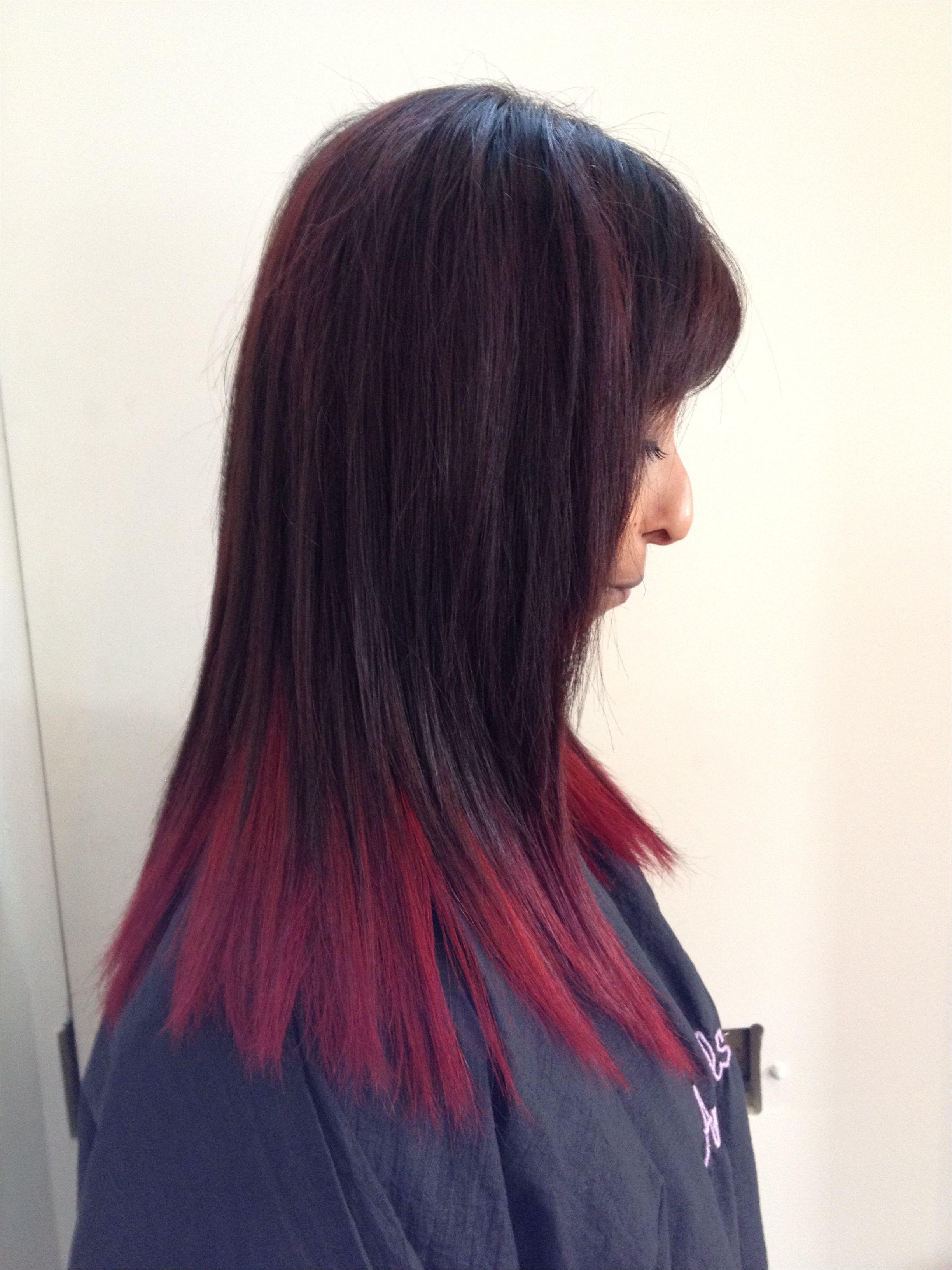 Hairstyles Dip Dyed Hair Red Dip Dyed Hair Hairr