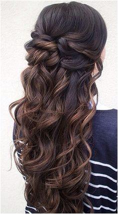 Highlights half up half down curly hair gorgeoushair Half Up Half Down Wedding Hair