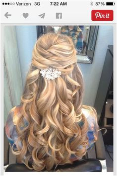 Prom Hairstyles For Long Hair Half Up Half Up Half Down Hair Prom Hairstyles