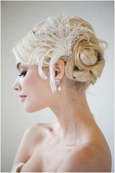 Bridal Fascinator Wedding Hair Accessory by PowderBlueBijoux Gatsby Wedding Wedding Updo Gun Wedding