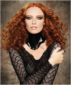 A long red curly coloured ringlets copper hairstyle by Steven Smart Gorgeous Redhead Beautiful Hair