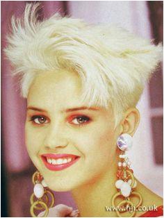 1987 80s Short Hair Short Bleached Hair Short Hair Styles 1990 Hairstyles