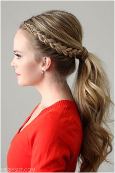Dutch Lace Braid Ponytail Bridal PonytailProm HairWedding