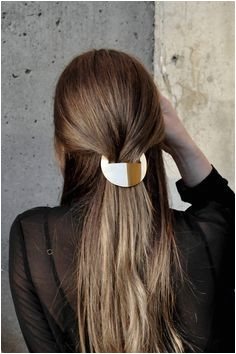 A hand cut brass barrette is just what your hair needs Hair Today