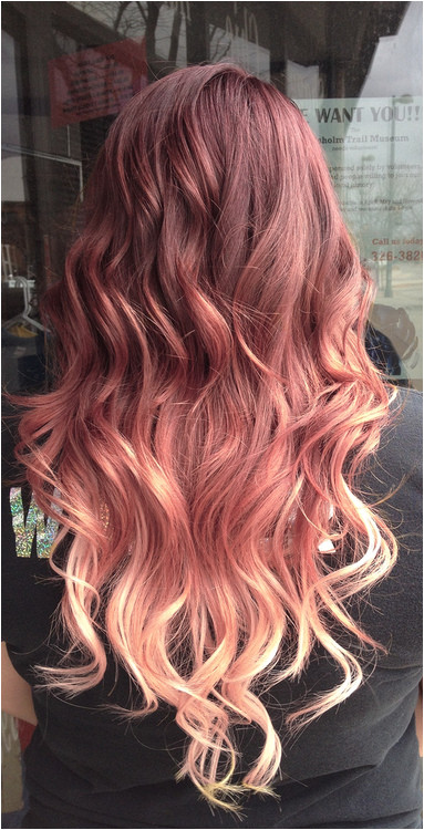 Various Shades of red blonde Ombre Hair Want to do this so bad