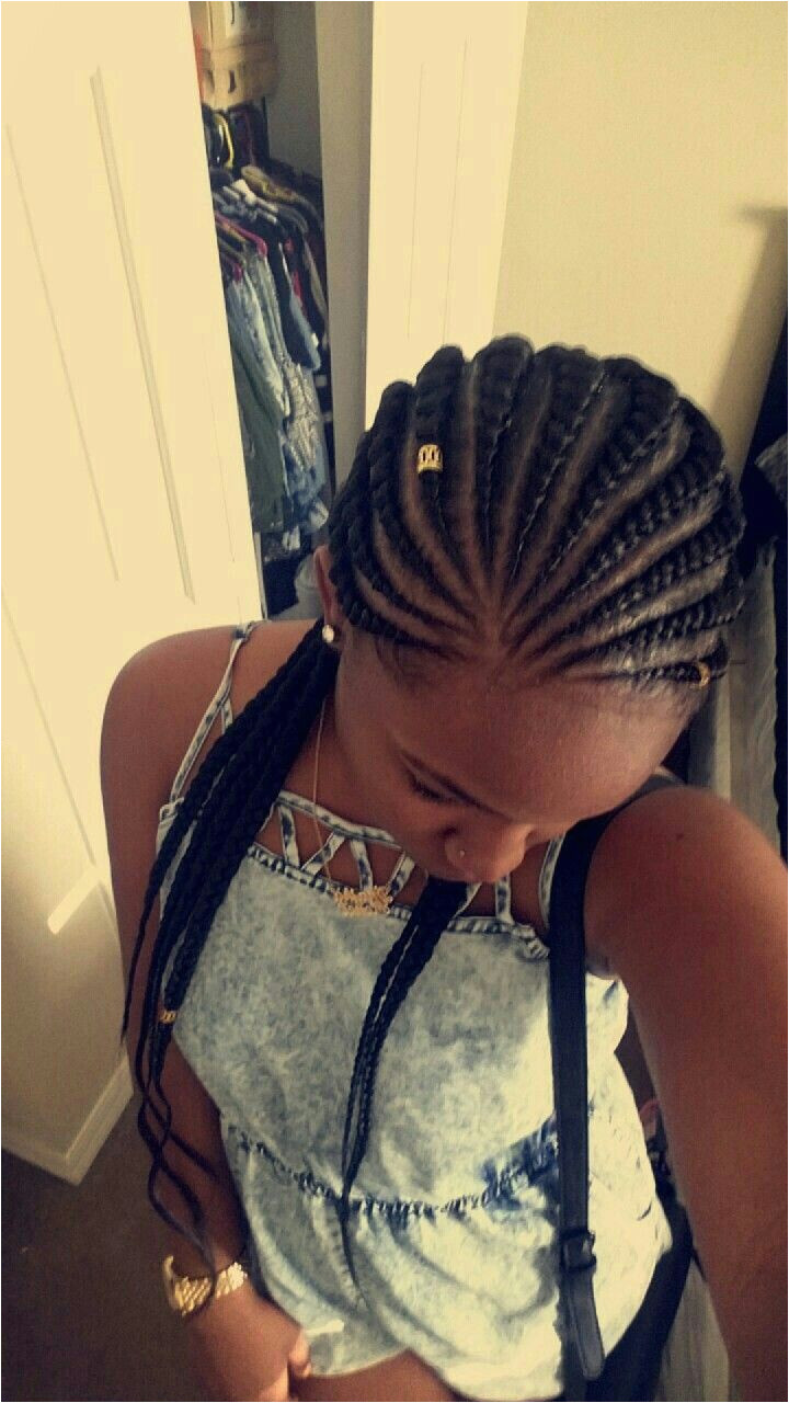 Ghana braids a protective style for Natural and or Relaxed hair goes good with any clothing and event but is mostly seen during the summer