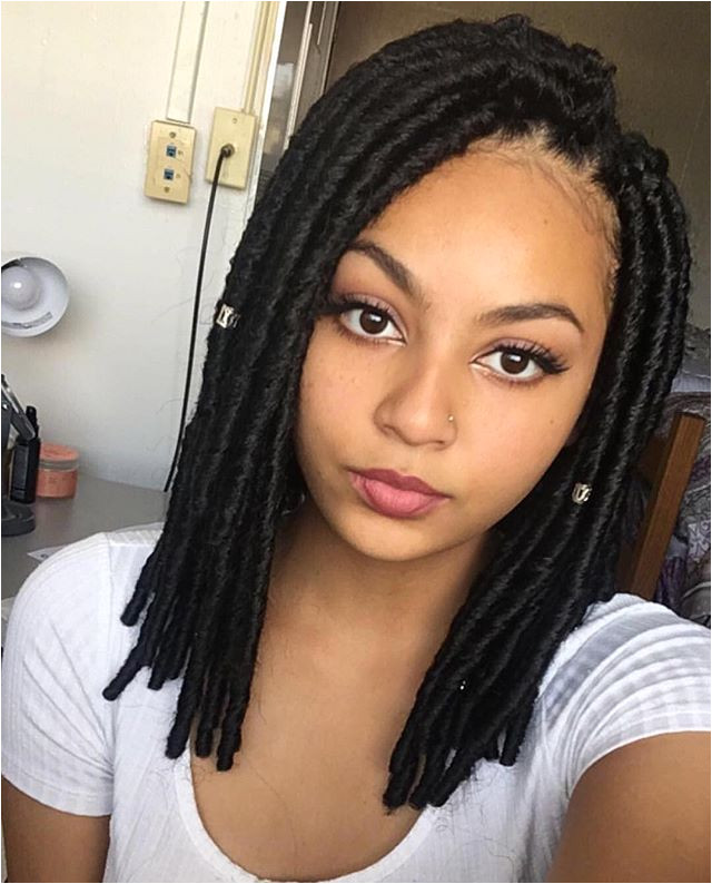 Change up your looks with these cute shoulder length Bomba Faux Locs Soul styled by lamegirlfriend bossgals bobbiboss