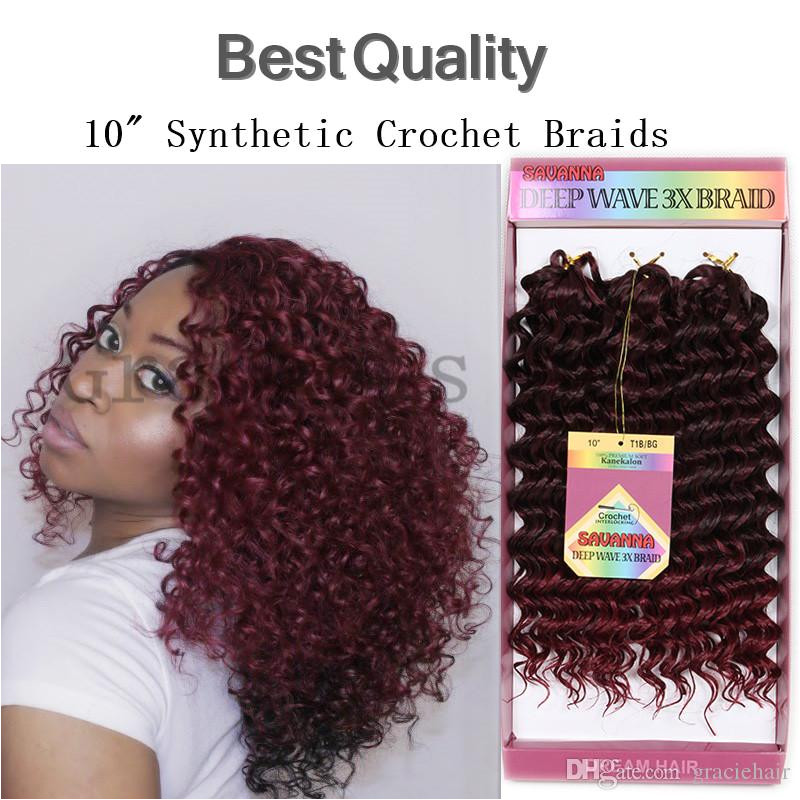 Best quality freetress crochet braids synthetic hair extensions 10inch 3pcs freetress curly havavan twist deep wave for short hairstyles