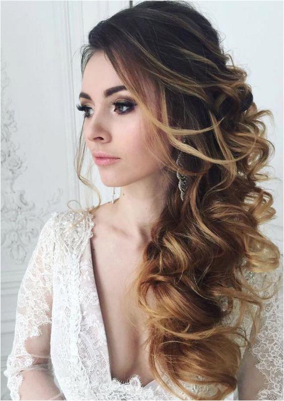 Wedding hairstyle idea Featured Elstile Bridesmaid Side Hairstyles Wedding Hairstyles Side Side