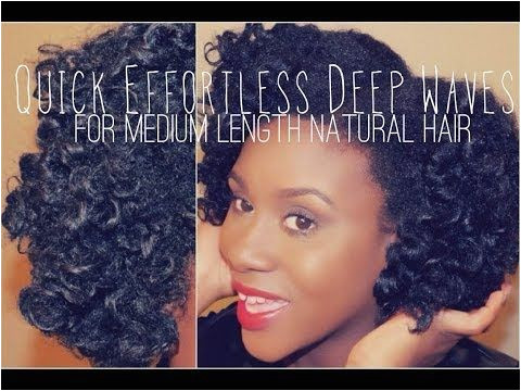 Quick Effortless Deep Waves Tutorial for Medium Length Natural Hair