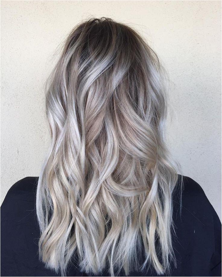 Hairstyles for Dark Hair Going Grey Od Dark Hair with Silver Platinum Highlights