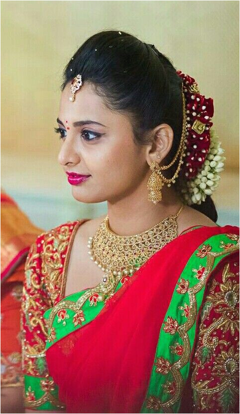 Hairstyles for Designer Half Sarees Pin by Swathi Appireddy On Half Sarees Pinterest