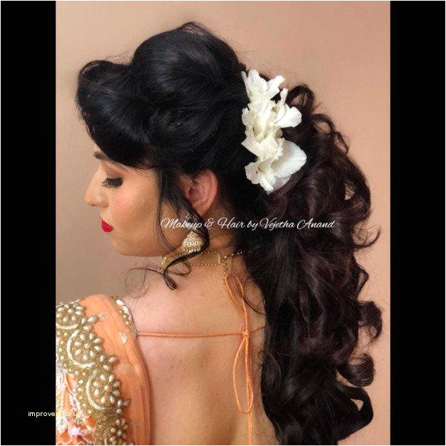 Indian Wedding Hairstyles New Lehenga Hairstyle 0d Concept Indian Wedding Hairstyles Half Up Half Down
