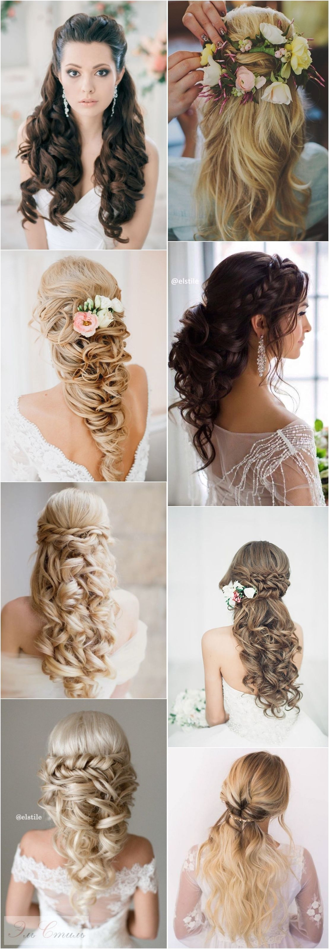 50 Stunning Half Up Half Down Wedding Hairstyles wedding hairstyle bride
