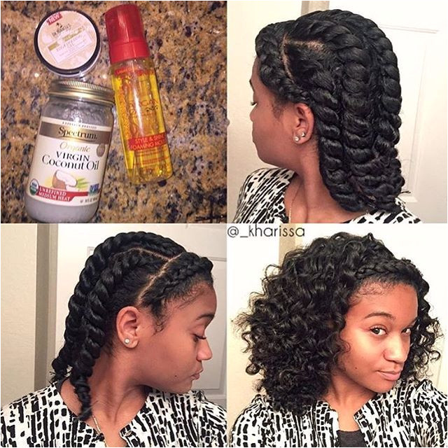 Hairstyles for Going Back Natural by Kharissa E Braid In the Front 5 Twists In the Back