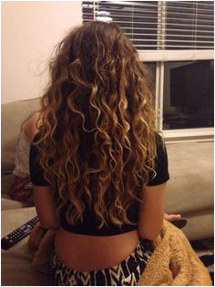 Hair Curly Natural Highlights Brunette Long Blonde Highlights Curly