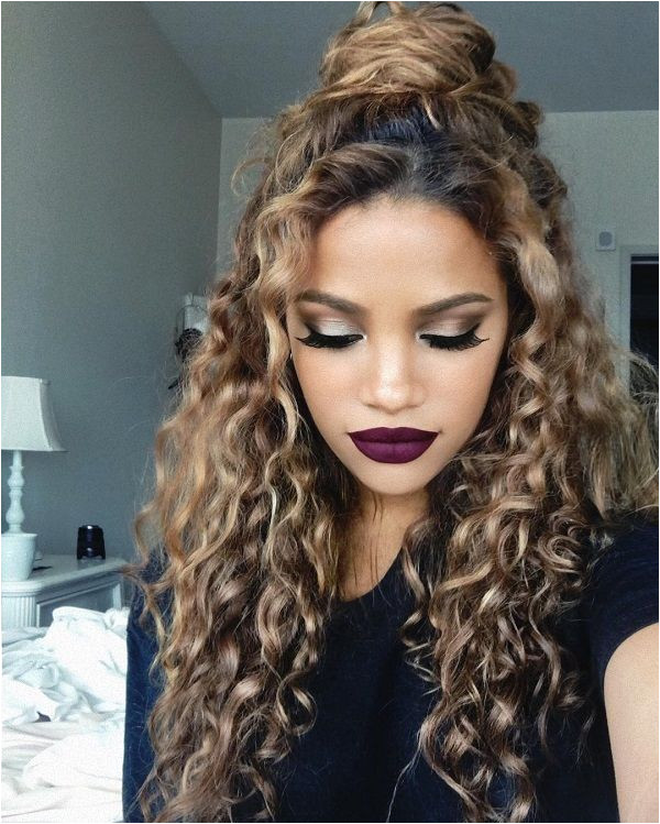 updo for curly hair