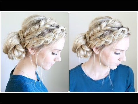 Hairstyles for Out Of the Shower Hair Mixed Braid Bun Cute Girls Hairstyles