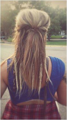 Partial dreads Half Dreads Partial Dreads Pretty Dreads Hippie Hair Dreads Styles