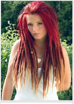 red ombre dreads 333 Dyed Dreads Pink Dreads Dreads Girl White
