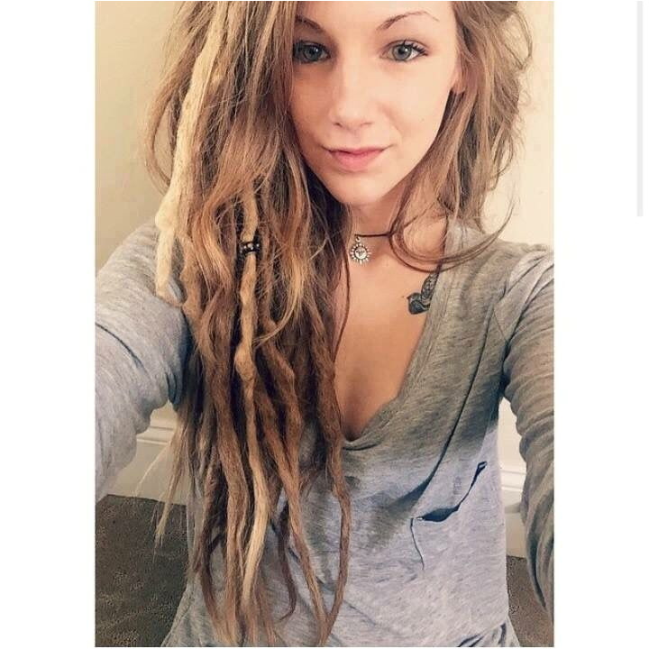 Loose Dreads Blonde Dreads Girl Blonde Dreadlocks Locs Blonde Hair Women
