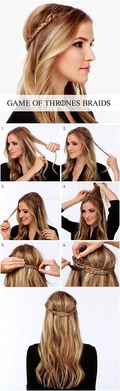 DIY Game of thrones hair Easy Prom Hairstyles Cute Simple Hairstyles Me val Hairstyles