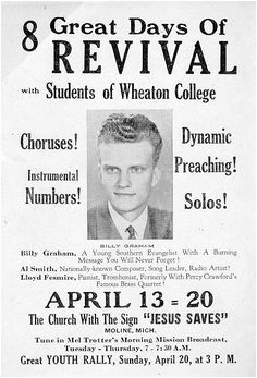 Billy Graham Revival Moline Michigan Saw him in Detroit when I was in high school