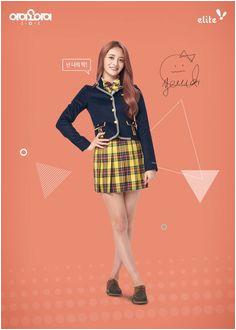 I O I x Elite Elite I O I ZhouJieqiong Kari Shaw · Korean School Uniform