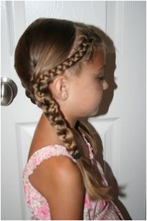 "Back to School Hairdo French ""Doubled Up"" Braids"