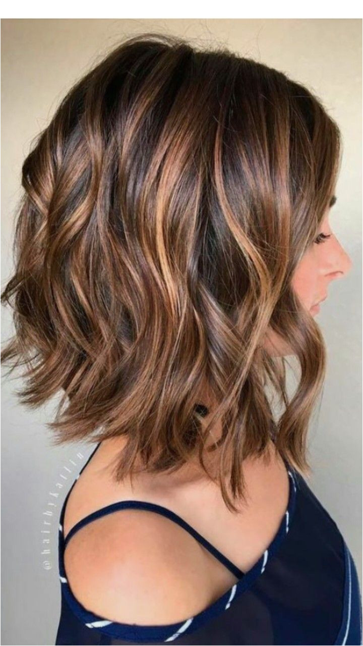 Highlights Cut and Color Haircut For Medium Length Hair Long Bob Hairstyles For Thick Hair
