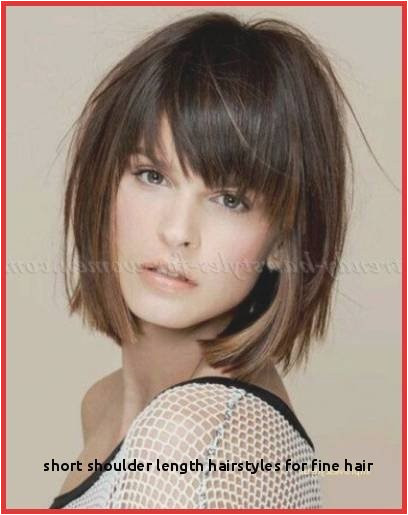 Short Shoulder Length Hairstyles for Fine Hair Medium Hairstyle Bangs Shoulder Length Hairstyles with Bangs 0d