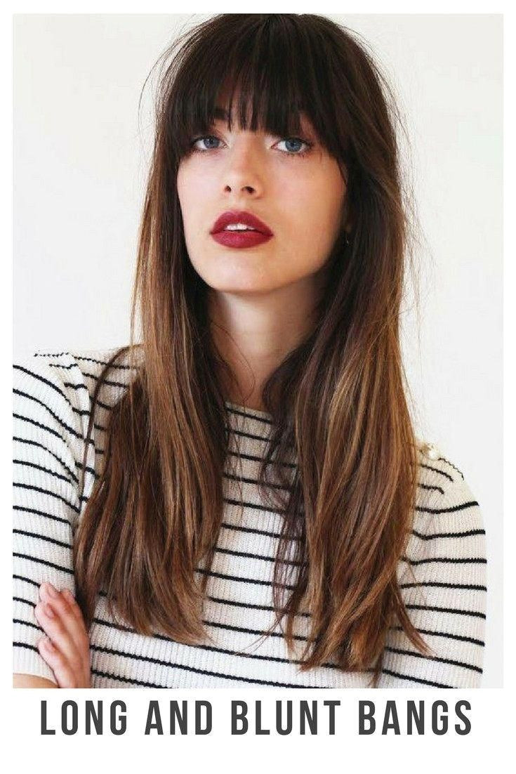 30 Incredible Hairstyles for Thin Hair Long and blunt bangs BelliaBox thinninghair