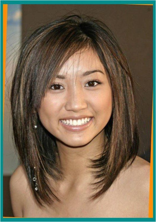 medium length haircuts for round faces and thin hair