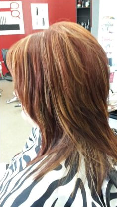 Fun Summer Red color & layered haircut Little Red s Cut & Dye Salon 609