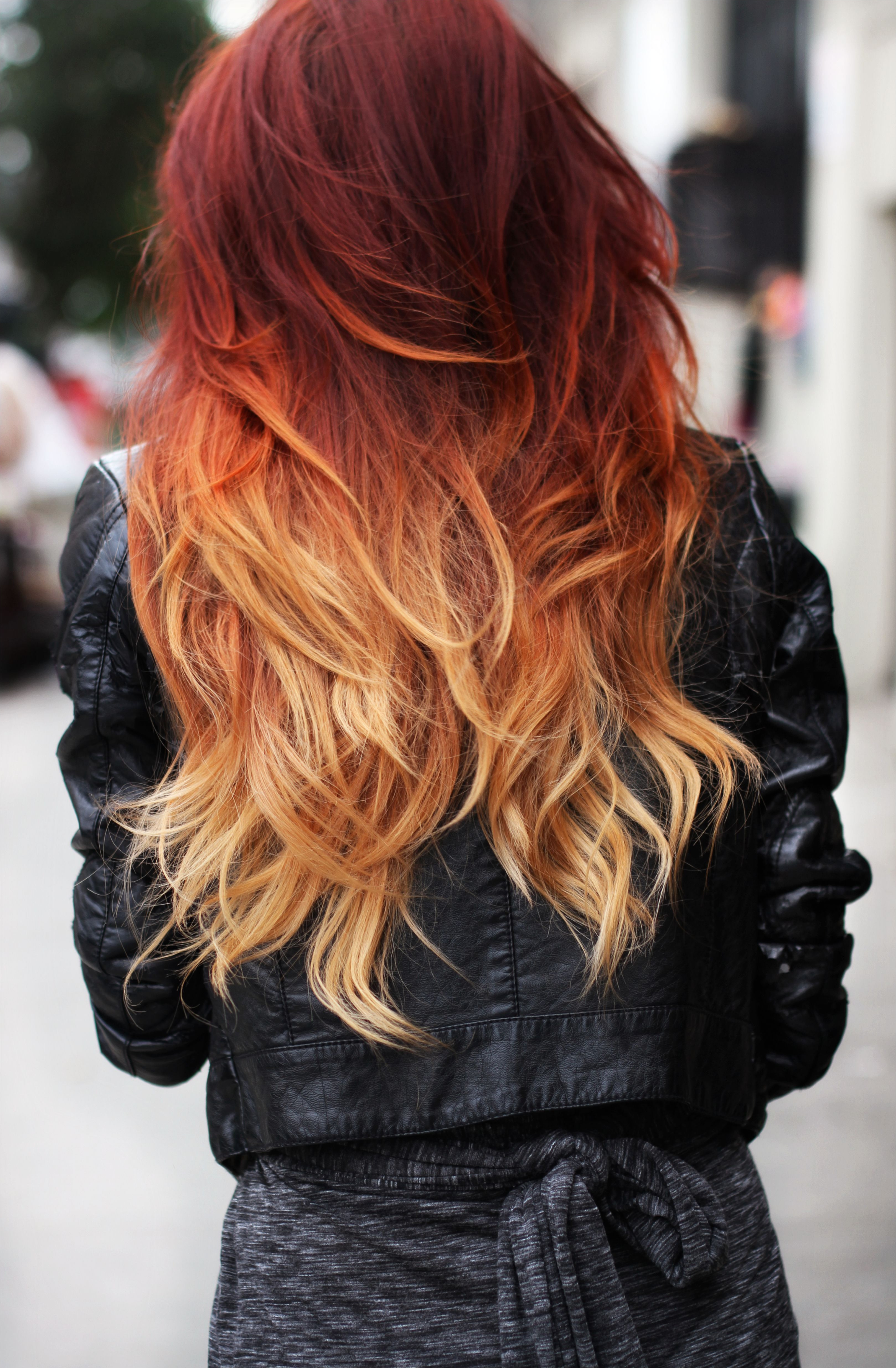 Twist on the normal brown to blonde Red Blonde Ombre
