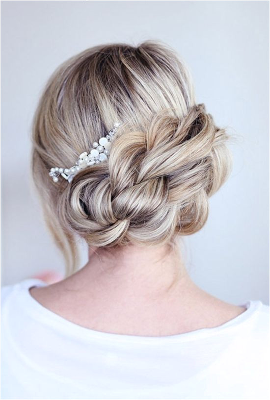 Prom wedding or any special occasion braided updo hairstyle is always the perfect choice for medium long hair Check out this list of braided updo