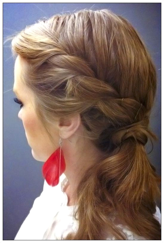 """French Braid Side Ponytail Luxury Side Ponytail Bun Hairstyles Awesome Pun"""" A Od 3 Pletenice"""